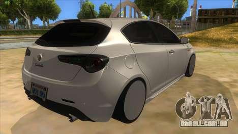 2011 Alfa Romeo Giulietta para GTA San Andreas vista direita