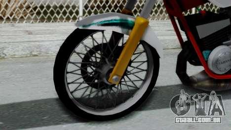 RX- King Putih para GTA San Andreas traseira esquerda vista