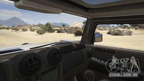GTA 5 Hummer H2 traseira direita vista lateral