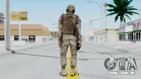 Crysis 2 US Soldier 9 Bodygroup A para GTA San Andreas terceira tela
