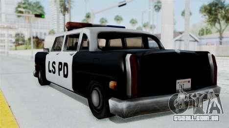 Police Cabbie para GTA San Andreas esquerda vista