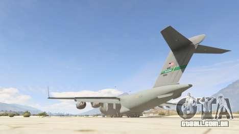 GTA 5 C-17A Globemaster III v.1.1 terceiro screenshot
