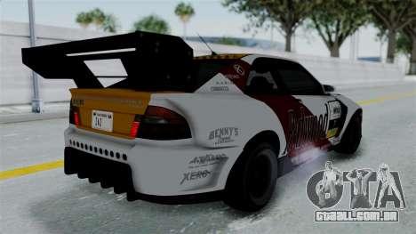 GTA 5 Karin Sultan RS Drift Big Spoiler PJ para GTA San Andreas vista inferior