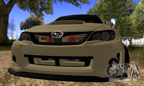 Subaru Impreza WRX STI 2008 LPcars v.1.0 para GTA San Andreas esquerda vista