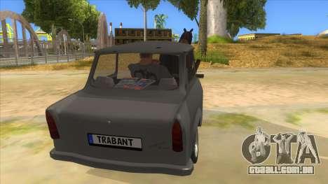 Trabant with Horse para GTA San Andreas vista interior