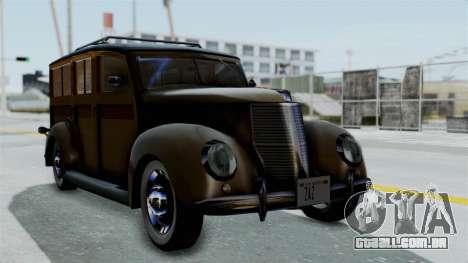 Lincoln Continental 1942 Mafia 2 v1 para GTA San Andreas vista interior