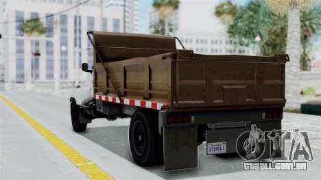 GTA 5 Tipper Second Generation para GTA San Andreas esquerda vista