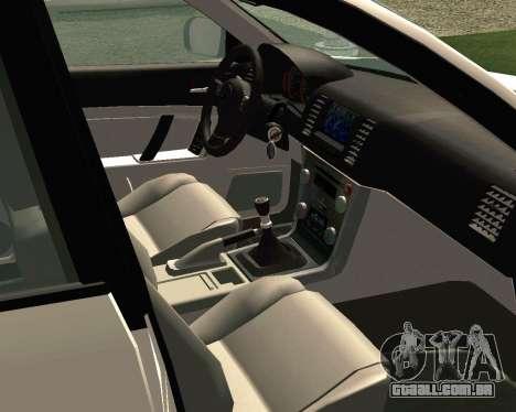 Subaru Legacy para GTA San Andreas vista interior