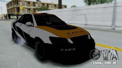 GTA 5 Karin Sultan RS Drift Big Spoiler PJ para GTA San Andreas vista interior