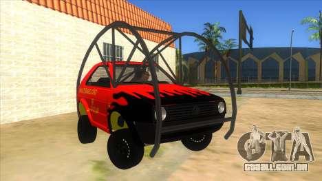 Volkswagen Golf MK2 RollGolf para GTA San Andreas vista traseira