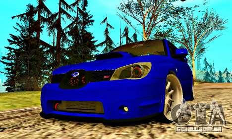 Subaru Impreza WRX STI Lisa para GTA San Andreas vista superior