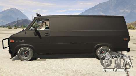 GTA 5 GMC Vandura (A-Team Van) vista lateral esquerda