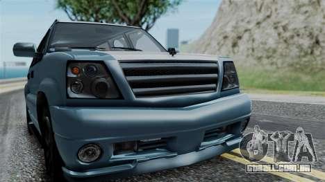 GTA 5 Albany Cavalcade v1 IVF para GTA San Andreas vista traseira