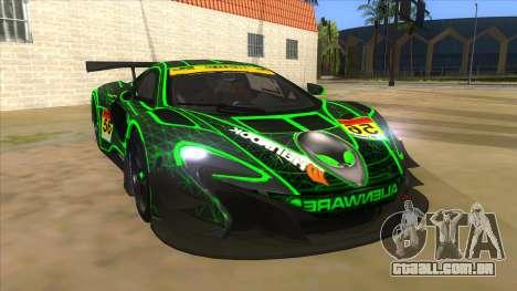 McLaren 650S GT3 Alien PJ para GTA San Andreas vista traseira