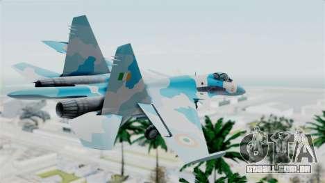 SU-37 Indian Air Force para GTA San Andreas esquerda vista