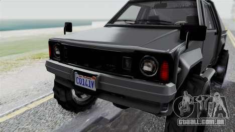 GTA 5 Karin Rebel 4x4 IVF para GTA San Andreas vista superior