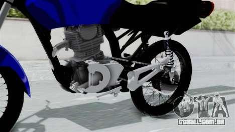 Honda CG Titan 2014 Stunt para GTA San Andreas vista direita