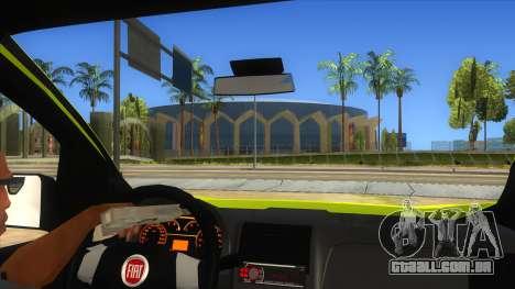 Fiat Fiorino para GTA San Andreas vista interior