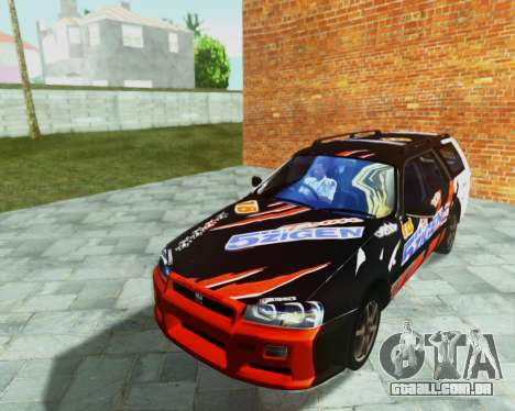 Nissan Stagea Tunable para GTA San Andreas vista interior
