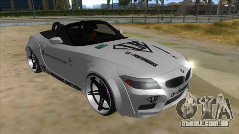 BMW Z4 Liberty Walk Performance Livery para GTA San Andreas vista traseira