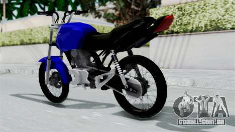 Honda CG Titan 2014 Stunt para GTA San Andreas esquerda vista