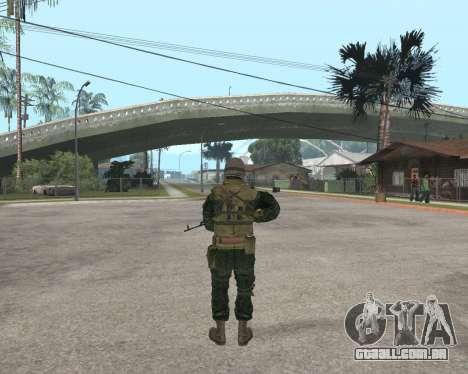 O exército russo Skin Pack para GTA San Andreas quinto tela
