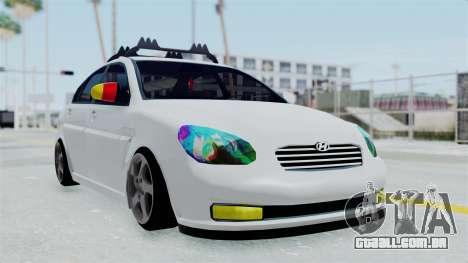 Hyundai Accent Essential Garage para GTA San Andreas