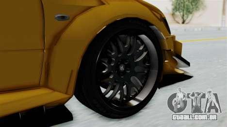 Mitsubishi Lancer Evolution IX MR Edition para GTA San Andreas traseira esquerda vista