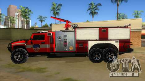 HUMMER H2 Firetruck para GTA San Andreas esquerda vista