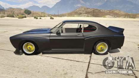 GTA 5 1974 Ford Capri RS vista lateral esquerda