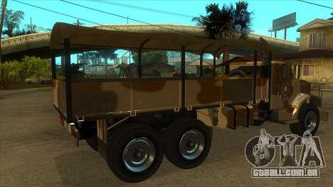 GTA V HVY Barracks OL para GTA San Andreas vista direita
