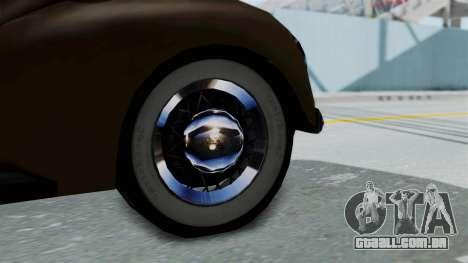 Lincoln Continental 1942 Mafia 2 v1 para GTA San Andreas vista direita
