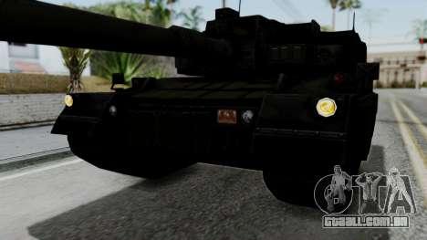 Point Blank Black Panther Woodland IVF para GTA San Andreas vista superior