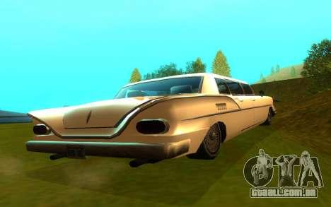 Tornado Limousine para GTA San Andreas traseira esquerda vista