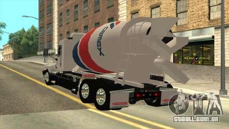 T600 Kenworth Caminhão De Cimento para GTA San Andreas esquerda vista
