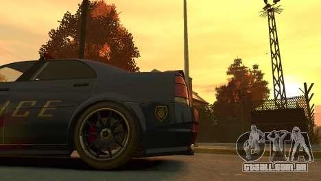 Albany Police Stinger para GTA 4 vista de volta