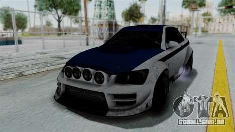 GTA 5 Karin Sultan RS Rally PJ para GTA San Andreas vista superior