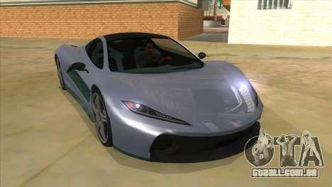 GTA 5 Progen T20 Lights version para GTA San Andreas vista traseira