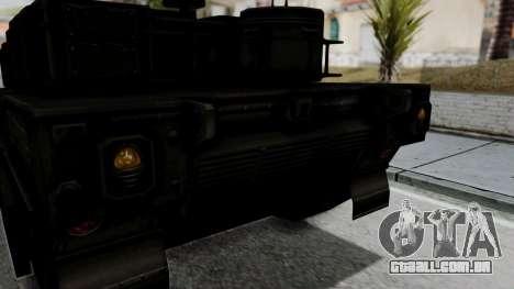 Point Blank Black Panther Woodland IVF para GTA San Andreas vista traseira
