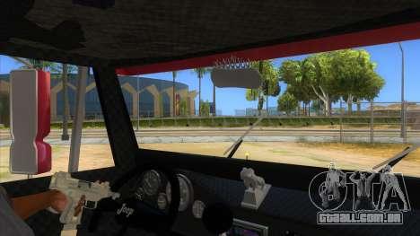 Jeep Pick Up Stylo Colombia para GTA San Andreas vista interior