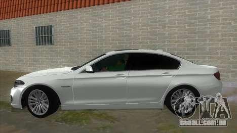 BMW 530XD F10 para GTA San Andreas esquerda vista