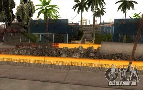 O trabalho de reparação Grove Street para GTA San Andreas segunda tela