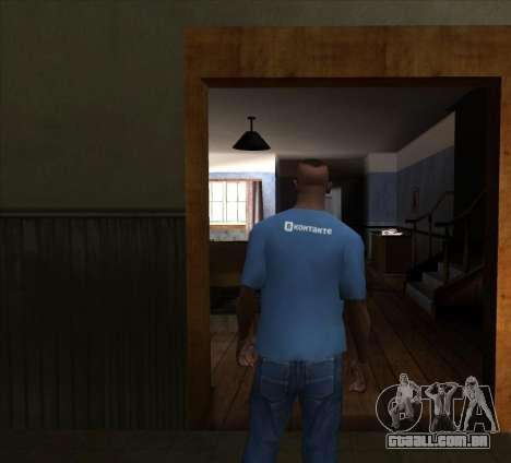 T-Shirt VKontakte para GTA San Andreas segunda tela