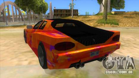 GTA 3 Cheetah ZTR para GTA San Andreas traseira esquerda vista