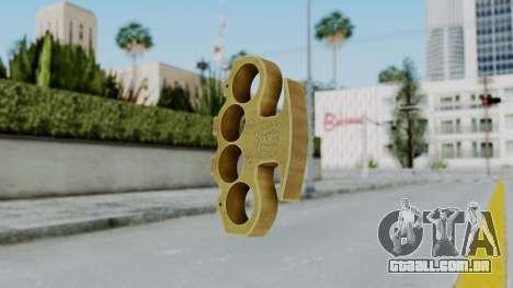 The King Knuckle Dusters from Ill GG Part 2 para GTA San Andreas segunda tela