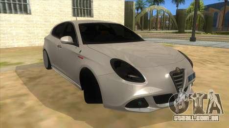 2011 Alfa Romeo Giulietta para GTA San Andreas vista traseira