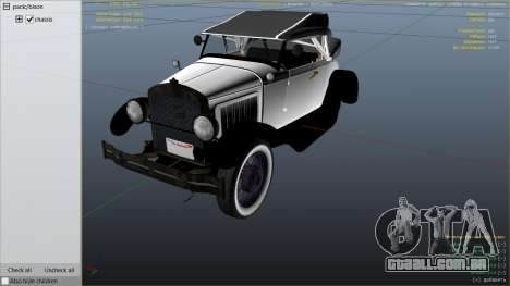 GTA 5 Ford T 1927 Roadster vista lateral direita