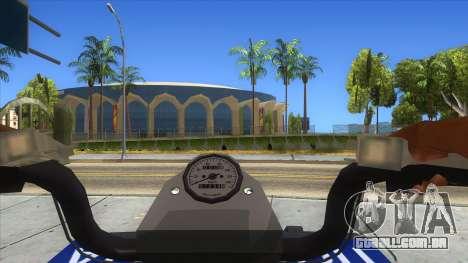 ATV Polaris Police para GTA San Andreas vista interior