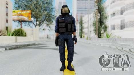 GIGN 1 Masked from CSO2 para GTA San Andreas segunda tela