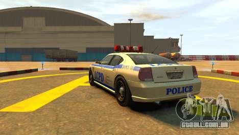 Bravado Buffalo Police Patrol [original wheels] para GTA 4 traseira esquerda vista